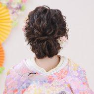 Hair backstyle  束感を意識したふわふわアップスタイル