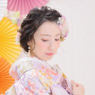 make  お着物のお花の色味に合わせてカラーメイクもオススメです!