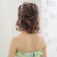 Hair backstyle ざっくり編んだハーフアップ*