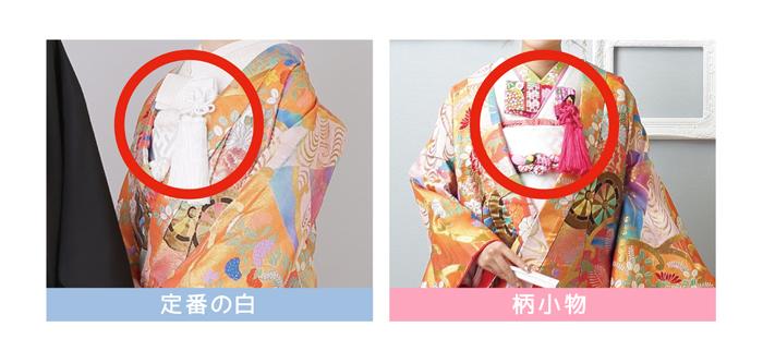 前撮りフォトウエディングが出来るISHIKURI PHOTO STUDIOの小物比較