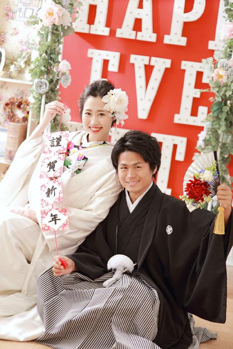 前撮りフォトウエディングが出来るISHIKURI PHOTO STUDIOの和装コーディネート