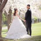 【撮影地:中島公園】-桜とお2人